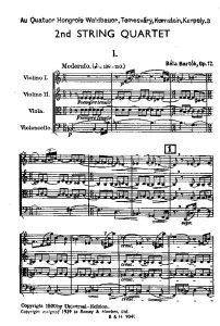 Bartock B. - String quartet №2 op.17