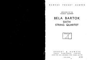 Bartok B. - String quartet №6