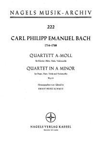 Bach C.P.E. - Quartet for flute, viola, cello and b.c. Wq 93