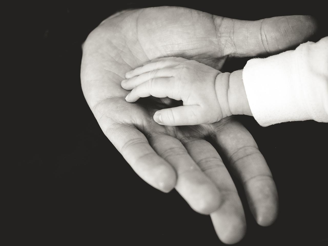 hands, baby, child