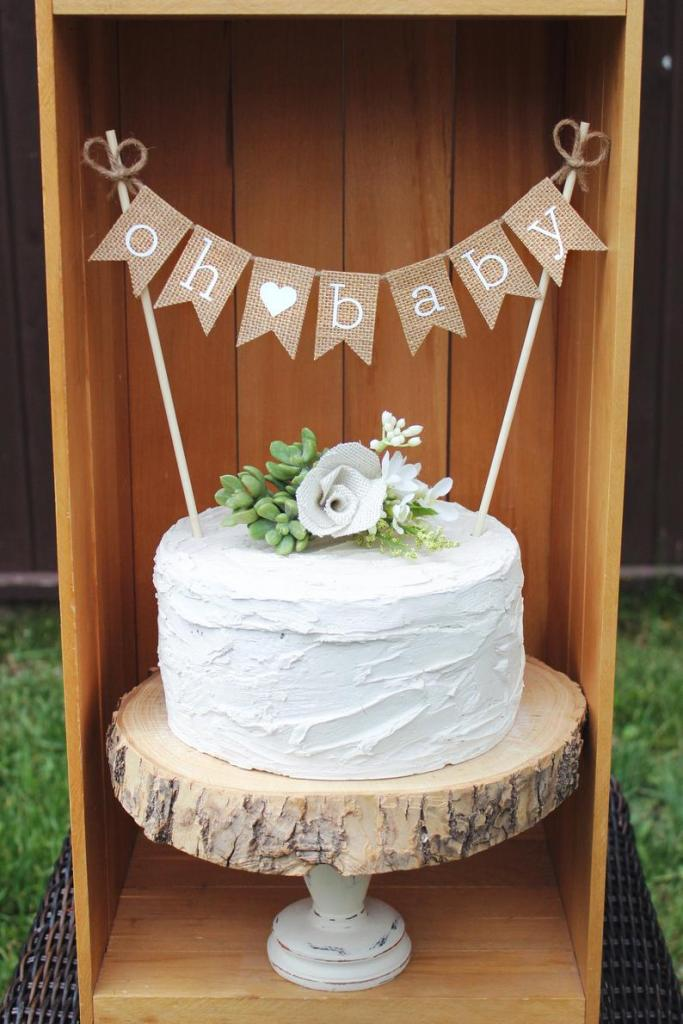 Rustic Baby Shower Cakes : rustic, shower, cakes, Rustic, Shower, Ideas, Centered, Parent