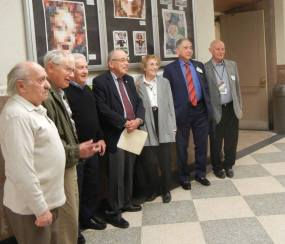 Survivors from the Holocaust at Central. Photo from Holocaust Awareness Museum and Education Center's Facebook page.