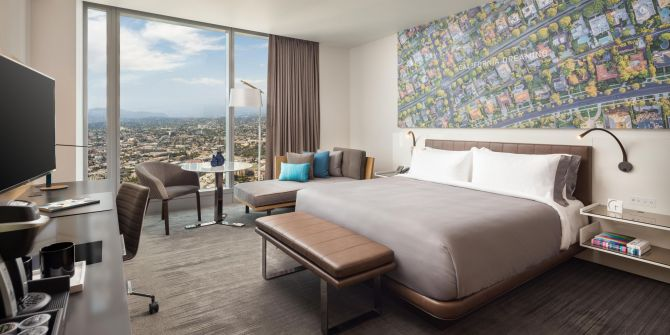 Intercontinental Hotel Los Angeles, designed by Amy Jakubowski and Wilson Associates