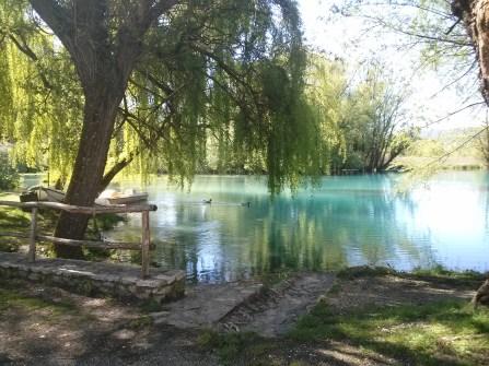 Italy, a small lake near the farm