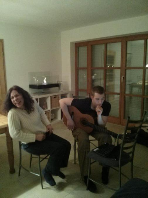 Singing with German friends