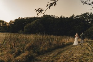 Golden hour couple shoot at DIY Autumn Woodland Wedding | The Chamberlins Wedding Photography | Thetford & Norfolk Wedding Photography at Thetford Forest Park