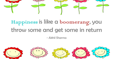 Happiness is like a boomerang