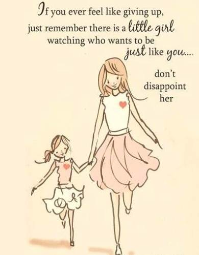 Thought for the day - Little girl is watching you