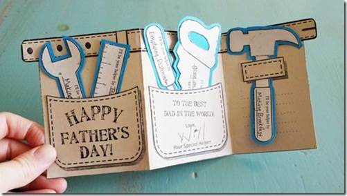 Fathers Day cards - Greeting card with toolbox