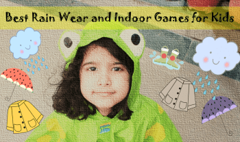 Quirky rain wear and indoor games for kids
