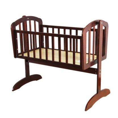 Wooden baby cradle 02