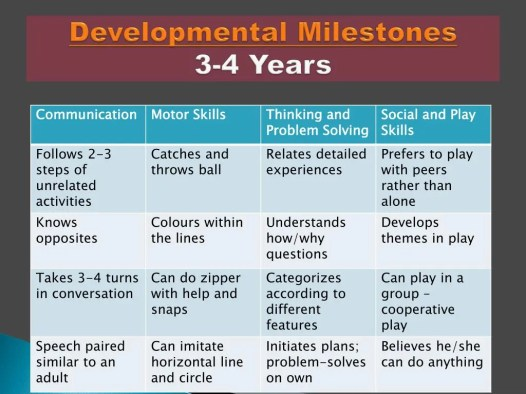 Developmental milestones - Infographic