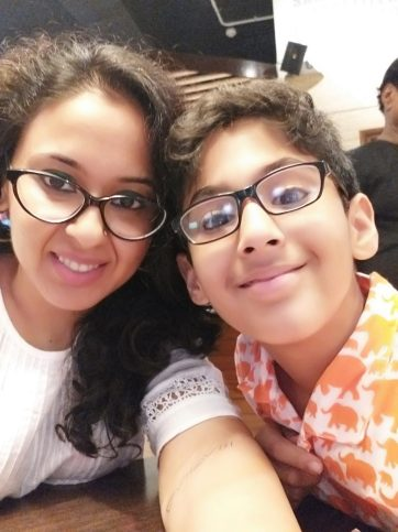 Real Mom Aarti Singh with her son