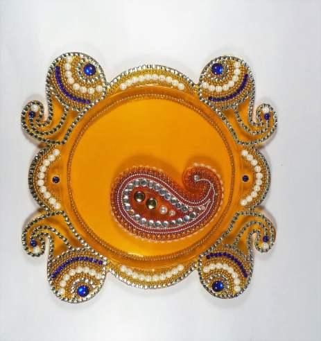 Karwa Chauth Puja Thali Designs 04