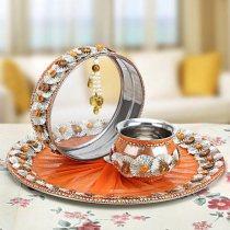 Karwa Chauth Puja Thali Designs 07