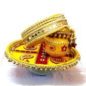Karwa Chauth Puja Thali Designs 12