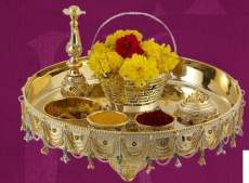 Karwa Chauth Puja Thali Designs 13