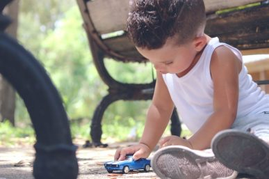 Children Activities - Hotwheels - boy playing with car (TCT)