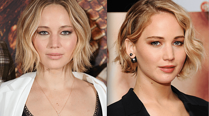 Jennifer Lawrence with round face