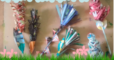 Easy Paper Crafts for kids - Paper flower