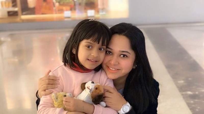 Real Mom - Priyanka Pandey with her daughter Zoie
