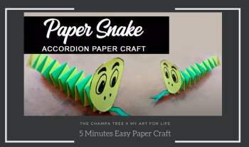 5 Minute Craft Work With Paper Folding – Accordion Snake