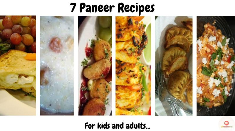 Easy paneer recipes - 7 paneer recipes
