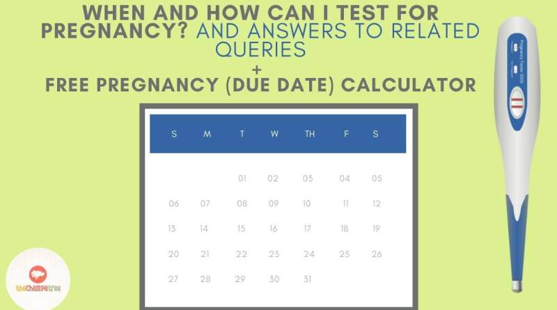 Pregnancy Test At Home - Calendar