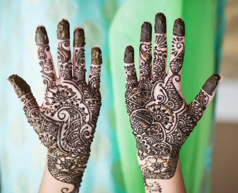 Full hands Indian mehndi