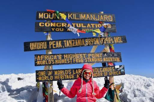Prerna Sinha on a trekking summit