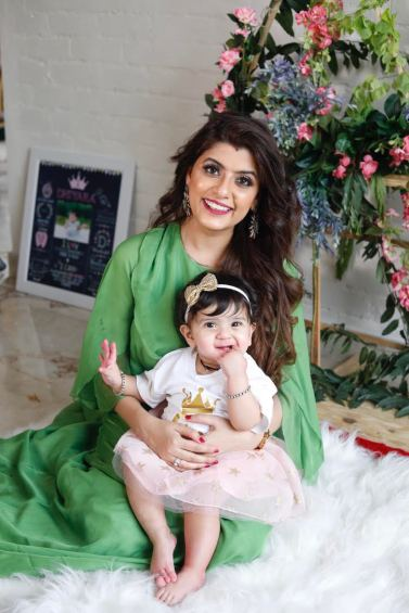 Real Mom Yuvika Seth with her daughter