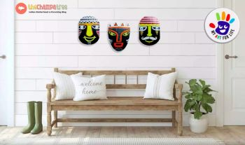 Easy Wall Hanging Paper Craft – Tribal Mask