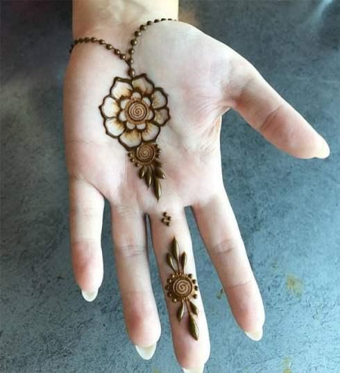 Eid Mehendi Design - Flower on the palm