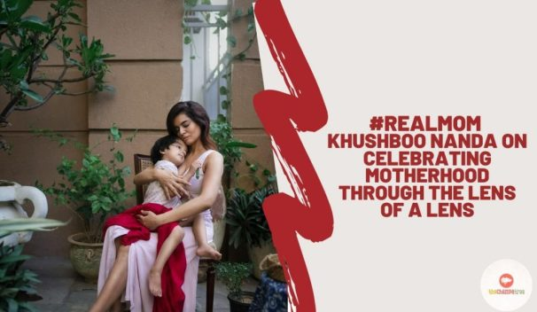 Real Mom Khusbhoo Nanda - Mother sitting on the chair holding her boy