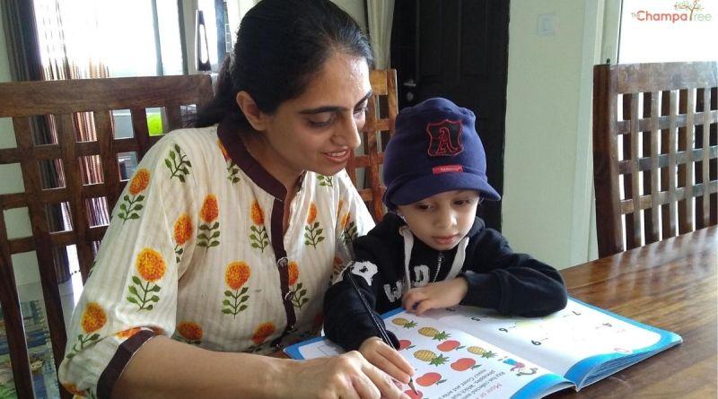 Real Mom Jaspreet Kohli teaching her son