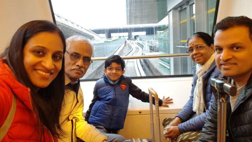 Relationship goals - Nisha and Sangeet with Nisha's family