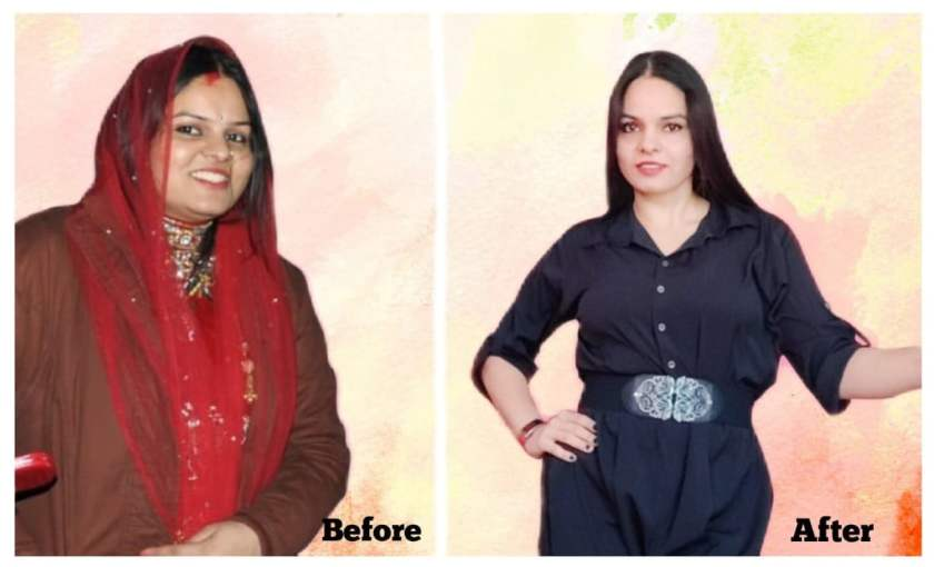 Real mom Monika Sharma's weightloss