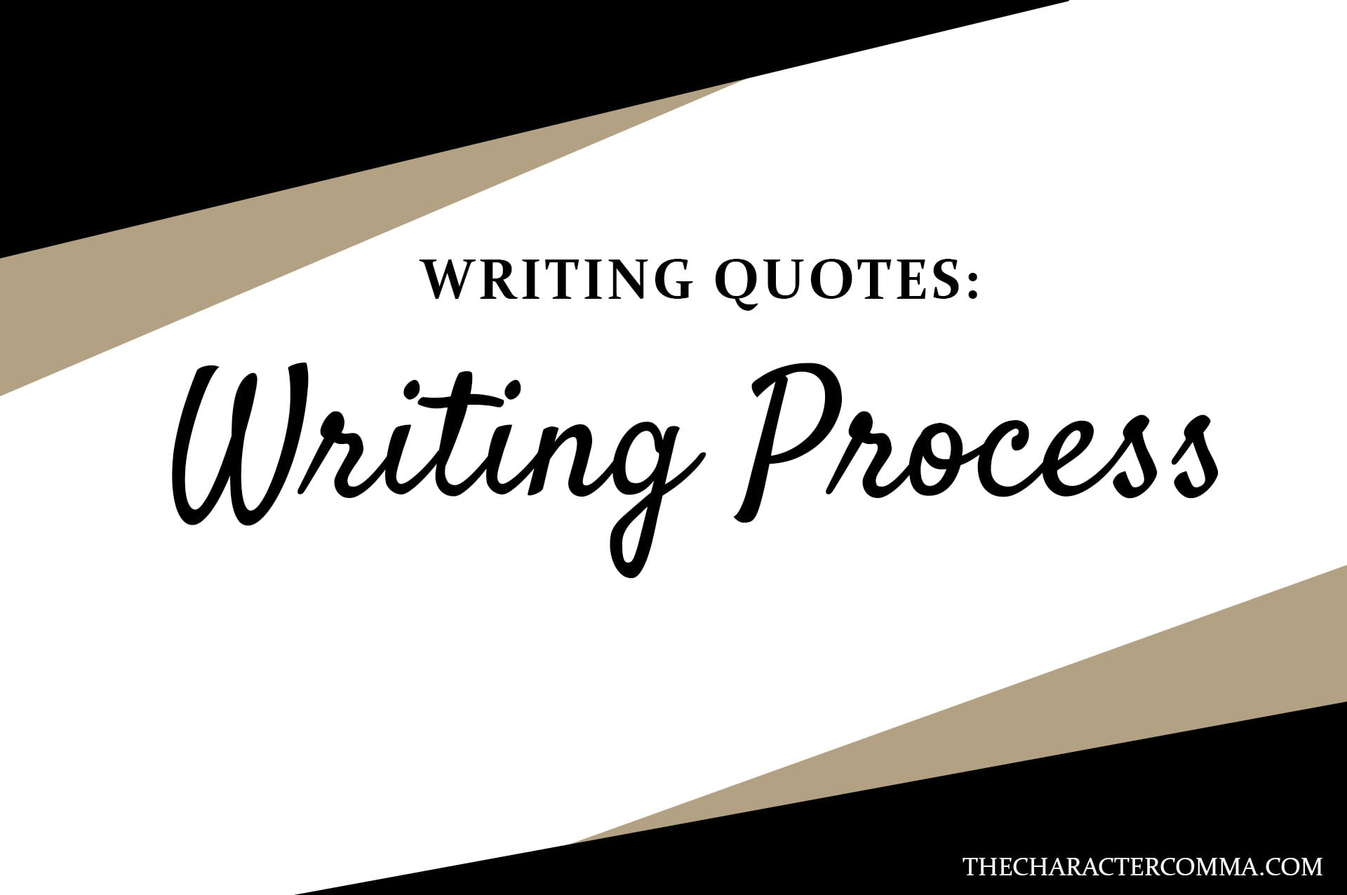 writing quotes - the character comma