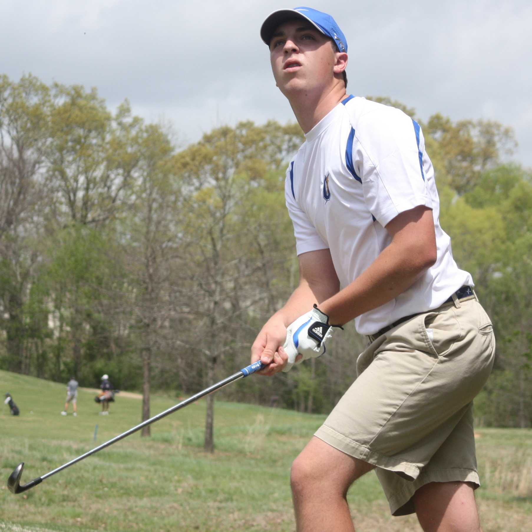(Photo Courtesy of John Davis/Oxford Citizen) OHS junior golfer Beau Ryals watches a ball sail after his swing.  Ryals and the Chargers finished second at the state tournament, but have a lot to look forward to next year, with many returning starters.