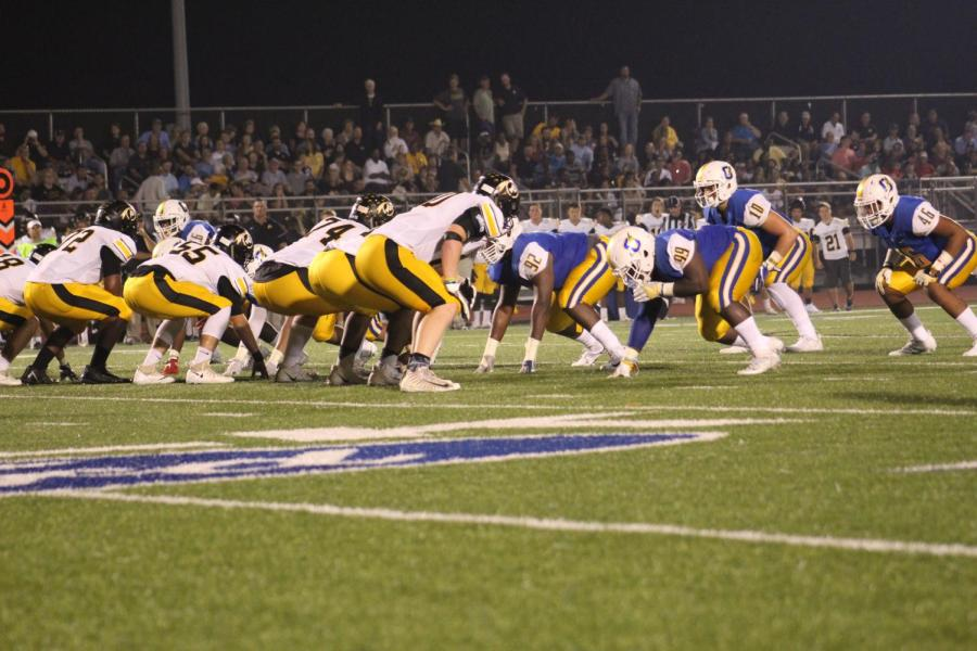 During+last+year%27s+game+against+Pontotoc%2C+the+Chargers+offensive+line+lines+up.+The+Chargers+finished+the+regular+season+with+a+33-13+win+over+Tupelo+last+week.+