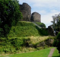 5&6: [5] Winded, on this blue stack/Of downward-drifting stone/The unwashed sky a low-/Slung blanket-thick with rain,/I searched the cold, unclear/Vernacular of clay,/Water and woods and rock:/The primer of my day. From: On Launceston Castle [6] Mr Hector Pennycomequick/Stood on the Castle Keep,/Opened up a carriage-umbrella/And took a mighty leap. From: Mr Pennycomequick