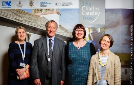Project Partners, left to right: Rita Skinner, Launceston Town Council; David Fryer, The Charles Causley Trust; Tracey Guiry, Literature Works; Vicky Reece-Romain, Cornwall Council. 12th March 2015.