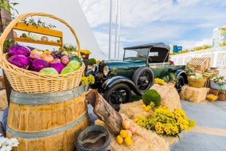 farm stand and truck