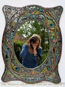Nikki Ella Whitlock photographing her artwork