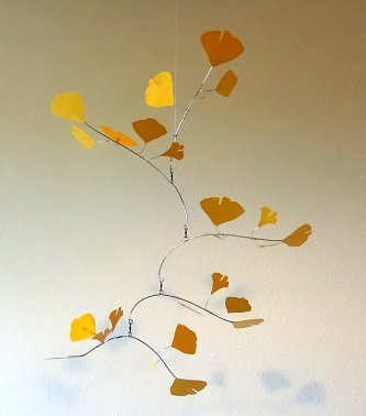 Yellow Leaf mobile, Etsy for Fine Artists.