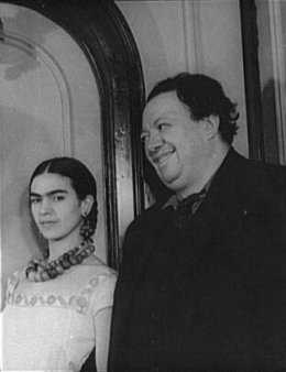 Portrait of Frida Kahlo and Diego Rivera. 1932. By Carl Van Vechten.