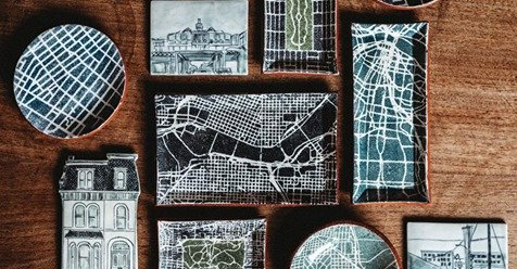Why artists need to go away post, map based ceramic art