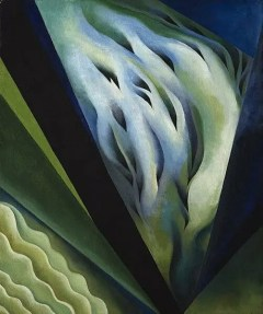 Transcending a Troll: O'Keeffe Shows Us a Way Out, Blue and Green Music by Georgia O'Keeffe. 1921. Public Domain.