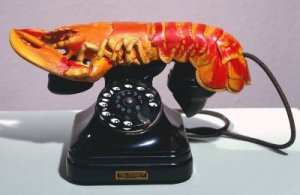 Salvador Dali's sculpture Lobster Telephone at Tate Liverpool, fair use. Writing coaching for artists