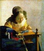Jan Vermeer painting, the lacemaker.
